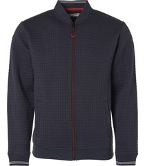 no excess sweater, full zip bomber, double la night blauw