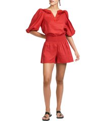 sachin & babi bella embellished linen top, size x-large in poppy red at nordstrom