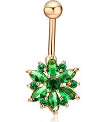 elegante anello con piercing a forma di anello di campanella per donne