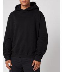 maison margiela men's punched holes hoodie - black - it 52/xl