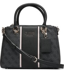 cathleen 3 compartment satchel bags top handle bags svart guess