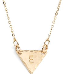 nashelle 14k-gold fill initial triangle necklace in 14k gold fill e at nordstrom