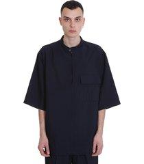 3.1 phillip lim t-shirt in blue viscose