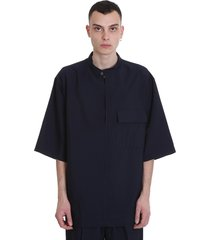 3.1 phillip lim t-shirt in blue viscose