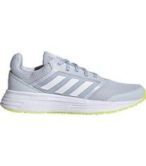 tenis running adidas galaxy 5 - gris-blanco
