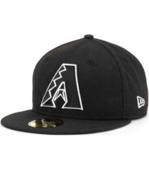 new era arizona diamondbacks mlb black and white fashion 59fifty cap