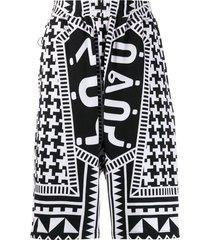ktz archive dogtooth harem shorts - black
