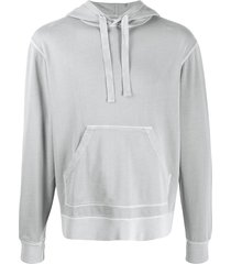 officine generale relaxed fit hoodie - grey