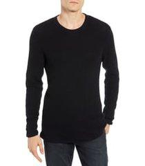 men's billy reid regular fit waffle crewneck pullover, size x-large - blue
