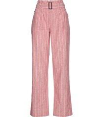 pantalone in misto lino con cintura (rosa) - bpc selection premium