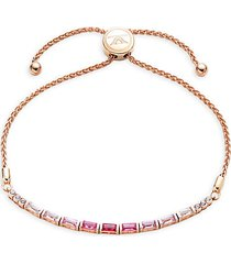baguette frenzy 14k strawberry gold® strawberry ombré sapphire® & white sapphire bolo bracelet