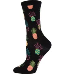 memoi pineapple fiesta women's novelty socks