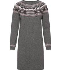 dresses flat knitted knälång klänning grå esprit casual