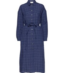 bethany linen dress dresses everyday dresses blå wood wood