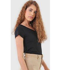 camiseta polo wear bolso preta
