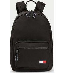 tommy hilfiger men's colorblock flag backpack black -