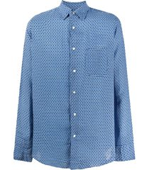 peninsula swimwear cala luna printed shirt - blue