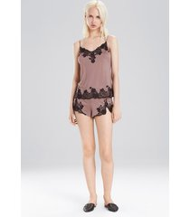 charlize short pajamas, women's, brown, size xs, josie natori