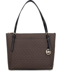 michael michael kors voyager all over logo canvas tote