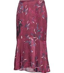 d2. confetti ruffle skirt knälång kjol röd gant
