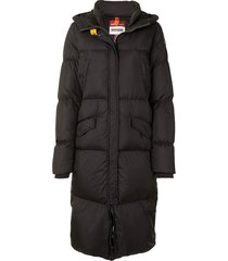 parajumpers hooded long puffer jacket - black