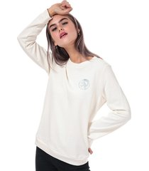 diesel womens willa crew sweatshirt size 8 in cream