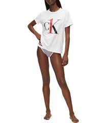 calvin klein 000qs6436e crew neck t shirt and tank women white