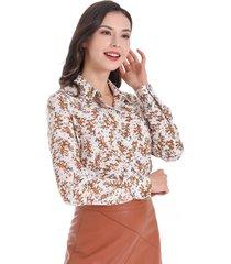 blusa otoño vintage blanco nicopoly