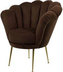 fotel brązowa muszelka tapicerowany lux-3