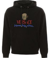 versace home signature print sweatshirt