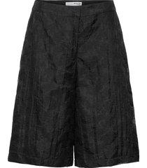 slfflora mw shorts g bermudashorts shorts svart selected femme