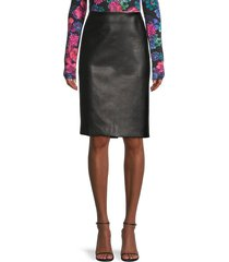 theory women's faux leather pencil skirt - black - size 10