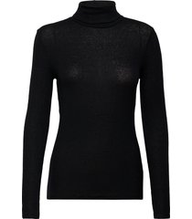 pavo ls t-neck tee turtleneck polotröja svart second female
