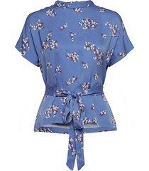 blumea blouse ss aop 8325 blouses short-sleeved blauw samsøe & samsøe