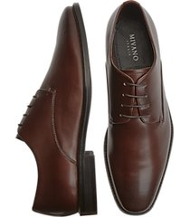 mivano fellini chestnut brown plain toe lace up dress shoes