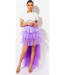 akira adore you layered tulle skirt