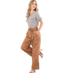 pantalon paper bag beige ragged pf12310289