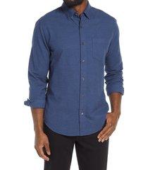 bonobos slim fit button-up shirt, size medium r in jasper solid - dark blue at nordstrom