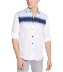 alfani men's watercolor chest shirt, created for macy's