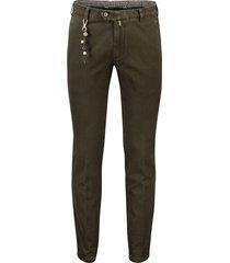 meyer pantalon olijfgroen flatfront