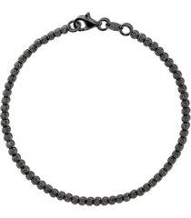 carolina bucci 18kt black gold discoball bracelet