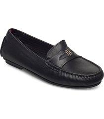 block branding mocassin loafers låga skor svart tommy hilfiger