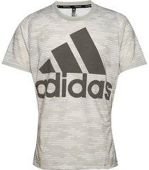 logo tee primeblue t-shirts short-sleeved grå adidas performance