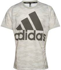 logo tee primeblue t-shirts short-sleeved grå adidas performance