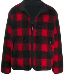 john elliott buffalo check fleece jacket - red