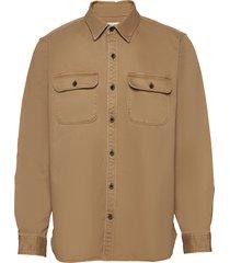 lightweight shirt jacket överskjorta brun gap
