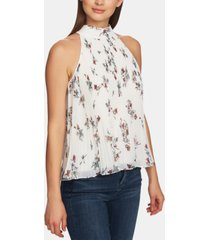 1.state floral-print pleated halter top