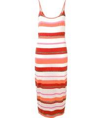 cashmere in love striped dress - orange