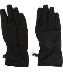 stone island buckled full-finger gloves - black