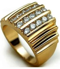 anillo hermoso casual amarillo arany joyas
